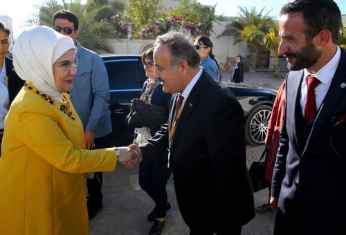 First Lady Erdoğan Visits Turkish Maarif Foundation Girls' School