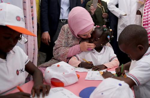 First Lady Erdoğan visits Pikine Social Pediatrics Institute in Senegal