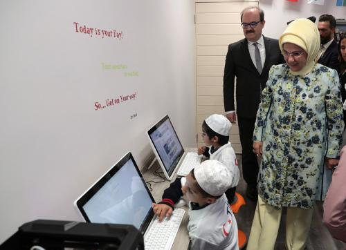 First Lady Erdoğan inaugurates the library built by TİKA and the Maarif Foundation's central office in South Africa