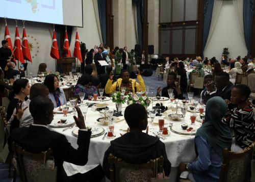 First Lady Emine Erdoğan hosted an iftar for the spouses of ambassadors from African countries at the Presidential Complex on the occasion of May 25, Africa Day.