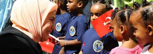 Emine Erdoğan, Daryel Yetimhanesi ile Cibuti Millî Kadınlar Birliği'ni Ziyaret Etti